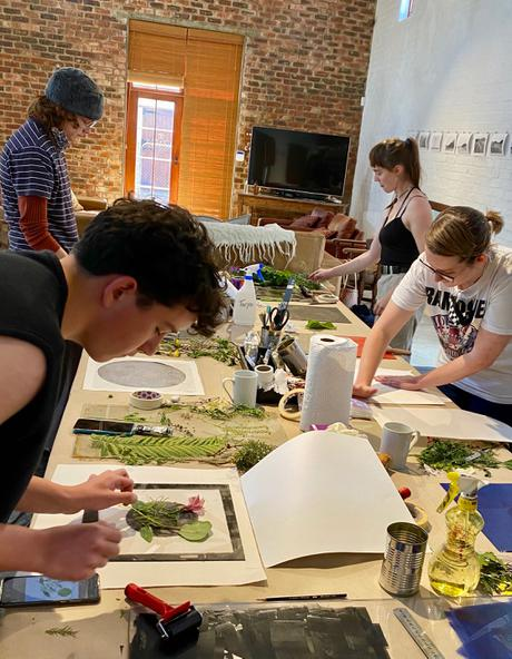 Printmaking workshop with young creatives