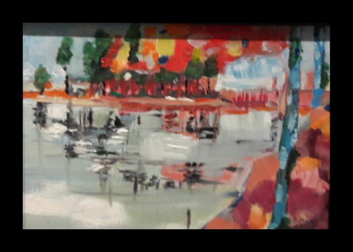 Patricia Marais    Island style    Oil on Board    18cm x 24cm    R850
