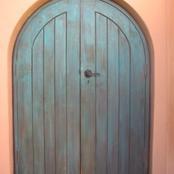 distressed Morrocan door