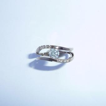 thumbnail for Curved Channel Diamond Ring