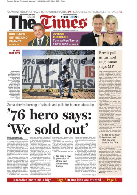The Times (SA) - June 17, 2016 - Youth Day