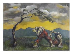 Carmen    Mr Johnson where are you?    Oil on canvas      40 x 50 cm    R1000