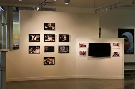 Throwing Into The Corner photo and video installation.