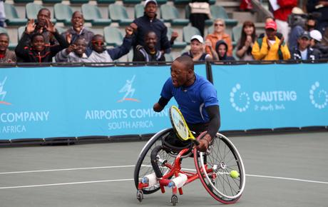 World number 2 quad player Lucas Sithole in action at last years' Airports Company South Africa SA W