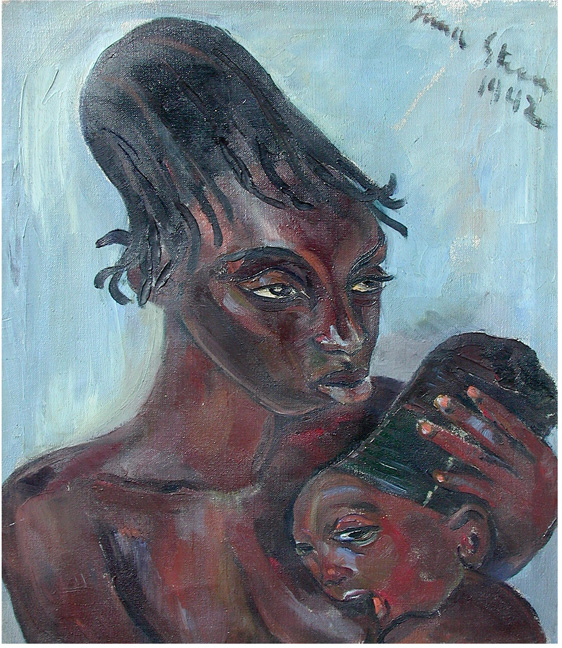 Mangbetu mother with baby - SOLD