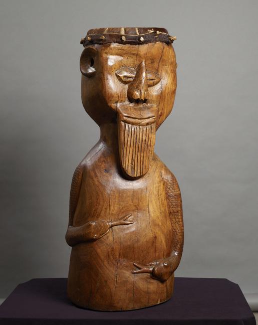 Jackson Hlungwani: Self-portrait drum - NFS