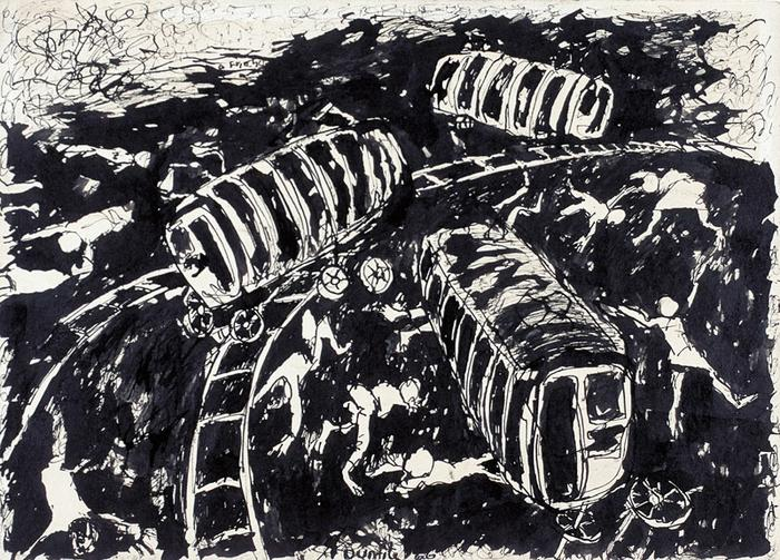 Study for the train accident (1966)