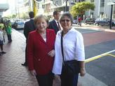 Elize and German Chancellor, Frau Merkel