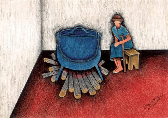 Woman cooking (1989)