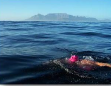 Liesl on her Robben Island swim