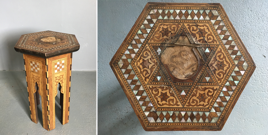 Small Ottoman maraquery table ( af ) • early 20th cent