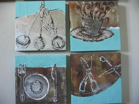 mixed media artworks