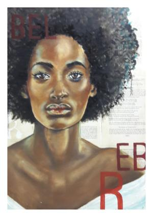 Niki Diamond     Rebel     Oil on Canvas    59 x 42cm    sold