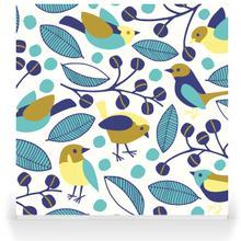 Garden Birds - aqua
