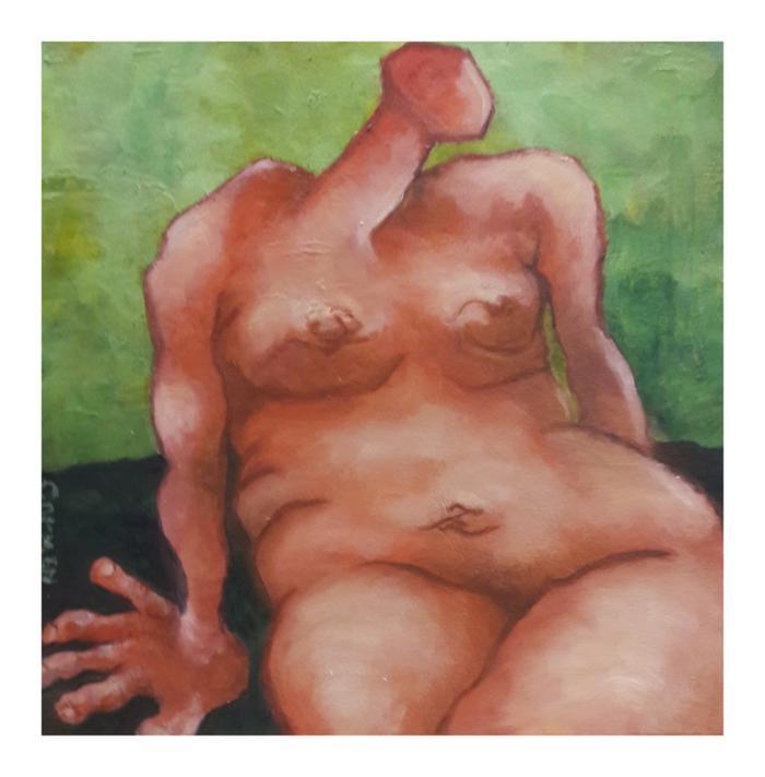 Carmen    Red madonna    Oil on canvas      40 x 40 cm    R1000