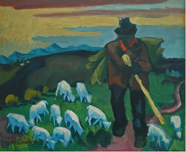 Shepherd and his flock - SOLD
