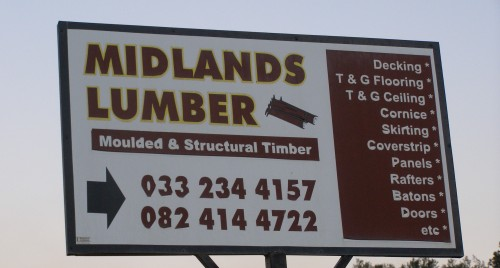 The Midlands Lumber Sign