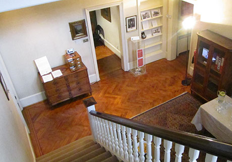 aerial view of the entrance hall