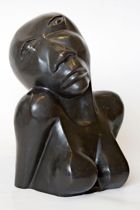 Dumile Feni:  Anguished woman - SOLD