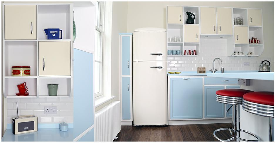 The retro kitchen company for Vintage kitchen units uk