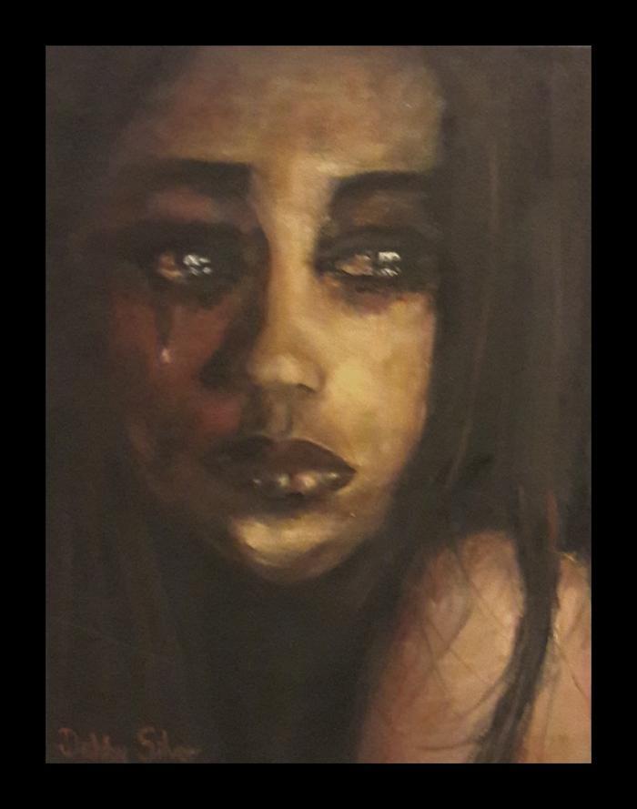 Debby Silver    Tearful girl     Oil     46x36 cm     R2000