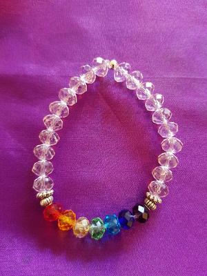 EL02 Chakra & pink beads