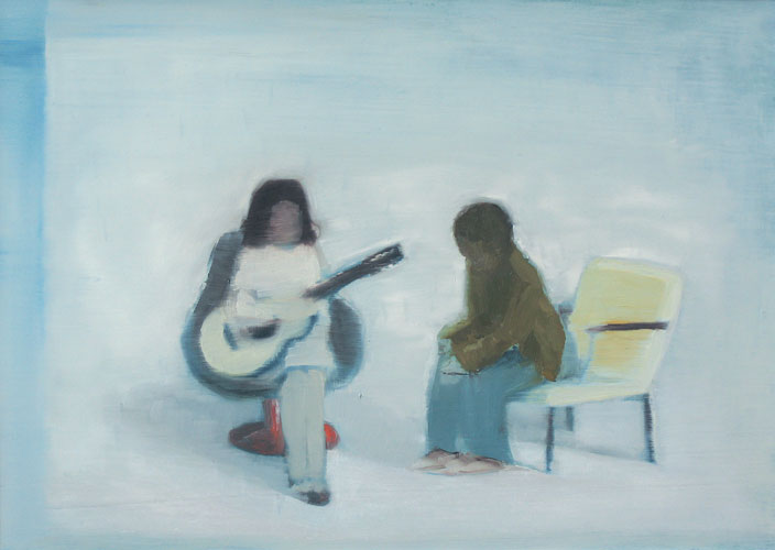 Guitar Meeting, oil on board, 30 x 42 cm, 2006