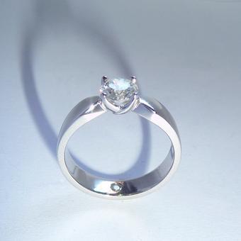 thumbnail for Rose set Platinum diamond ring