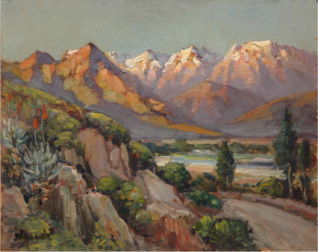 Mountain landscape with river - SOLD
