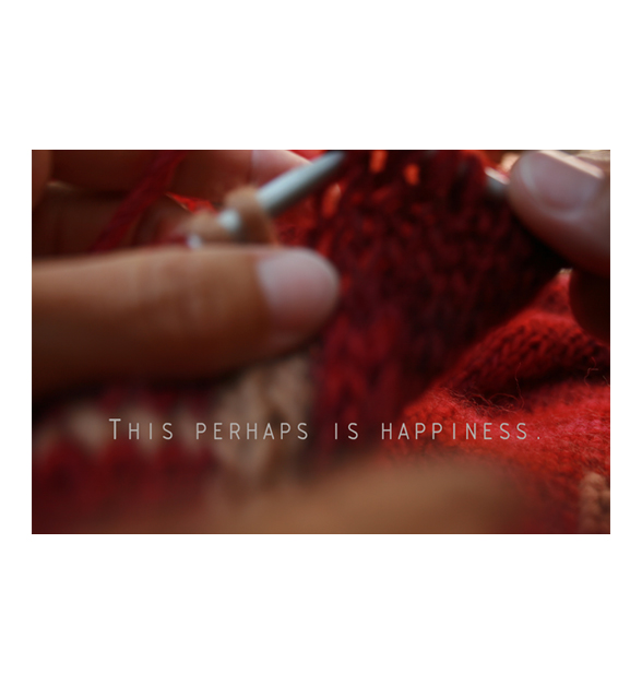 This perhaps is happiness