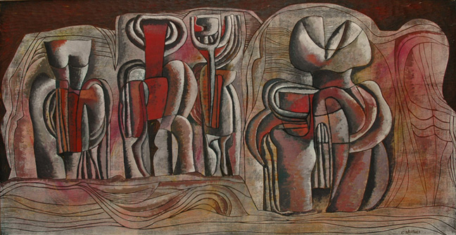 Figures in a metaphysical landscape - SOLD
