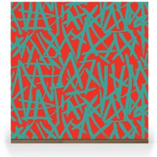 Brush on Colour - Turquoise on Red