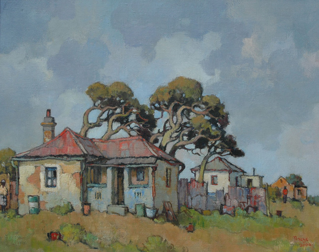 House with windswept trees - SOLD