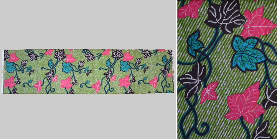 Faux Dutch Batik printed cotton for the West African trade