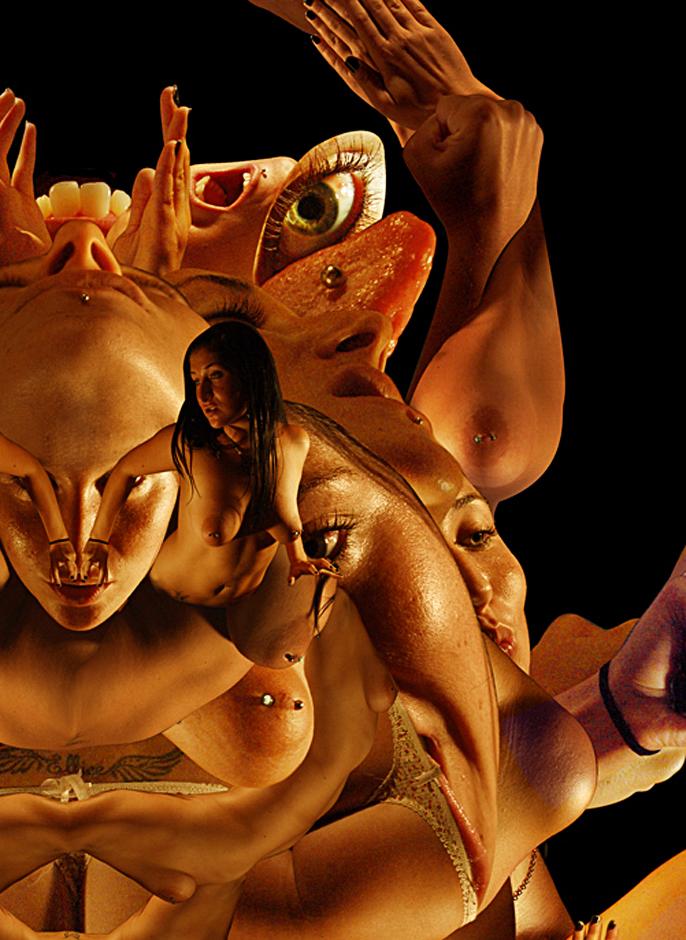 detail of Demonface Crab