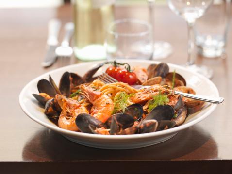 prawn & mussel