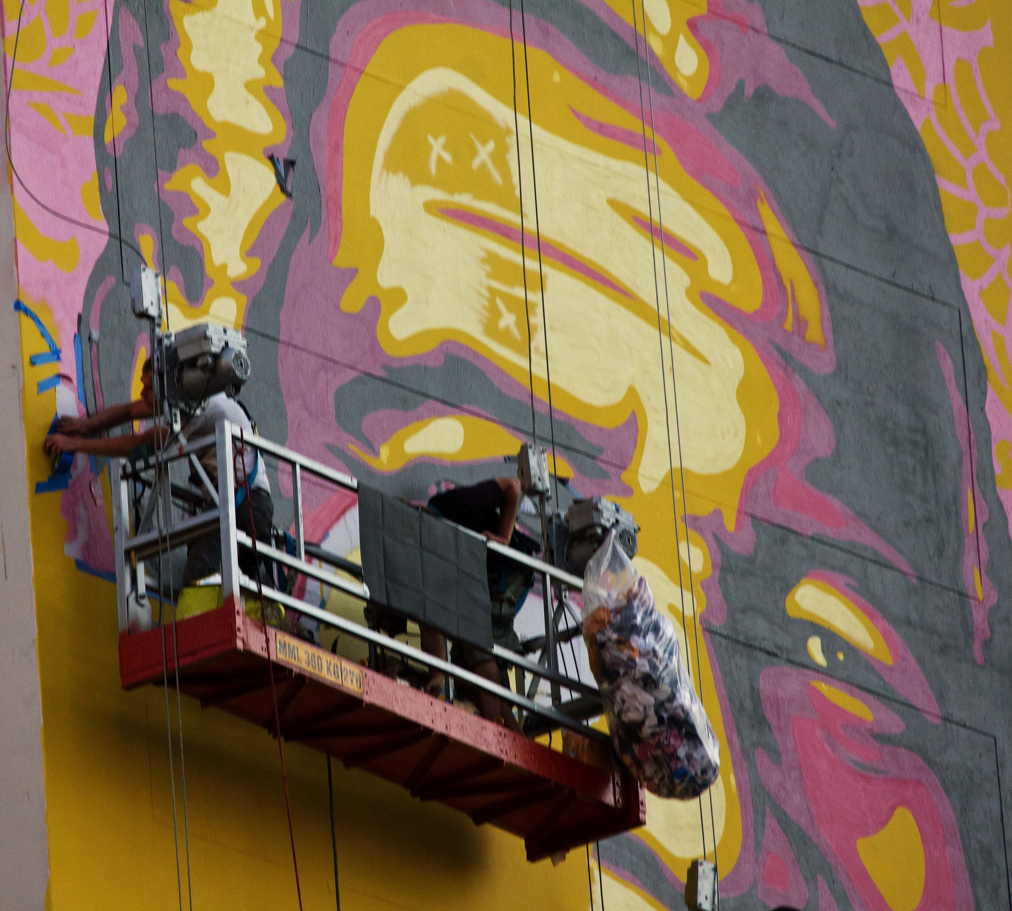 PICS \\\\\\ The Purple Shall Govern - New Shepard Fairey Mural in ...
