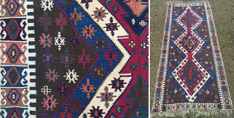 Turkish Anatolian Maras / Adana kilim • 2nd half 19th cent