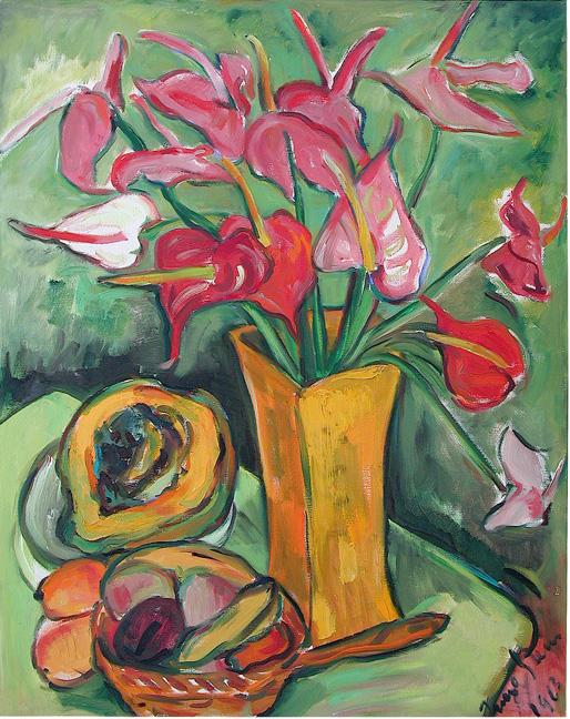 Still life with anthuriums - SOLD