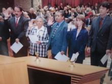 Melanie is sworn in as a Member of Parliament 1994