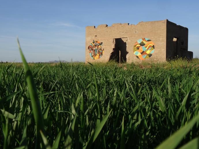 Africa Goddog In Morocco For Jardin Rouge Art Residency