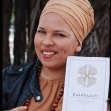 Blaq Pearl with Karadaaa!!! her self published book of poetry and prose