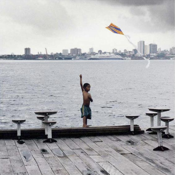 Kite Flyer on Floating Cafe | Amazon River Basin | Manaus | Brazil