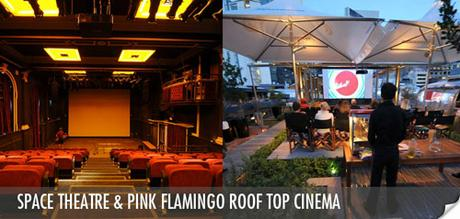 The Space Theatre and The Pink Flaming Roof Top Cinema