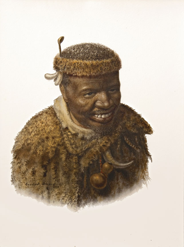 Portrait of a smiling Inyanga - SOLD