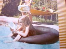Sarah as a child - always reading