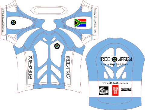 Womens Cycling Jersey South African flag