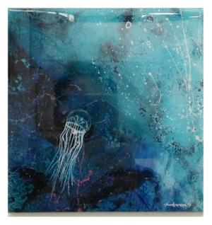Anthony Evans Acrylic and Resin on board