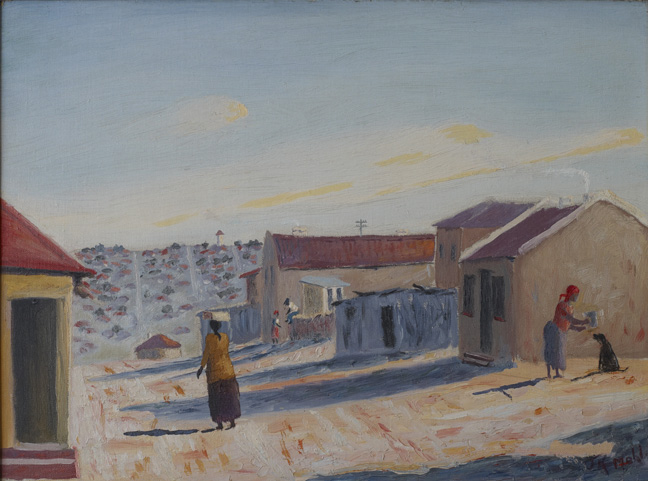 John Mohl: A view of New Clare Location, Johannesburg - SOLD
