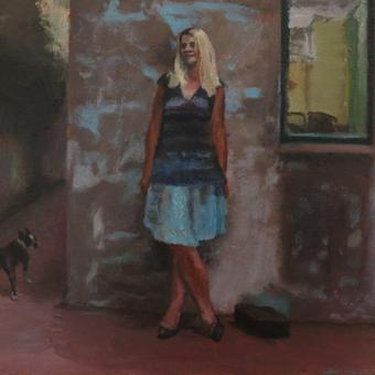 thumbnail for The girl with the flaxen hair/ Double portrait of Anthea and Mika. Prelude 8. Oil on wood. 30 x 40cm